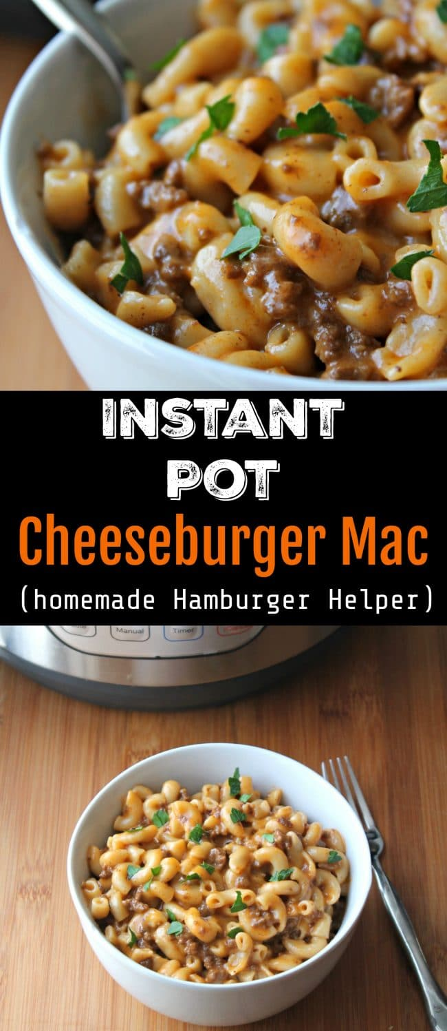 Instant Pot Cheeseburger Mac, A homemade version of Hamburger Helper