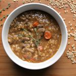 Instant Pot Beef Barley Stew in bowl