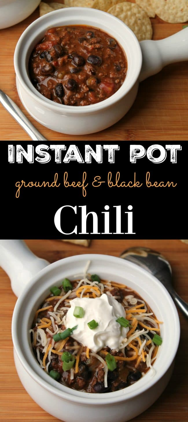 Instant Pot Chili Ground Beef & Black Bean