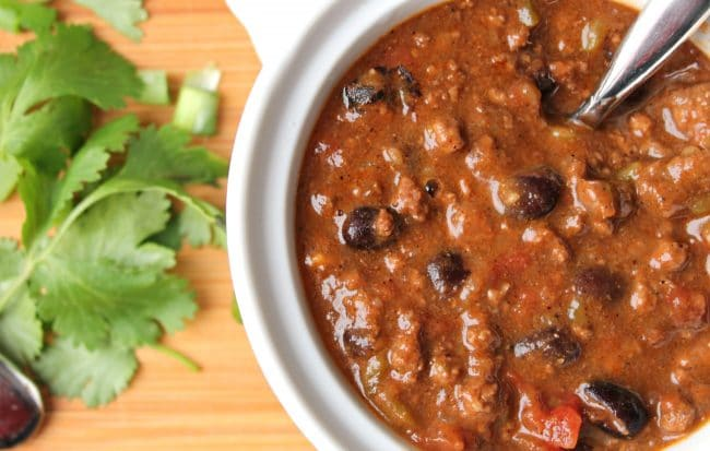 Instant Pot Chili Ground Beef Black Bean Foody Schmoody Blog