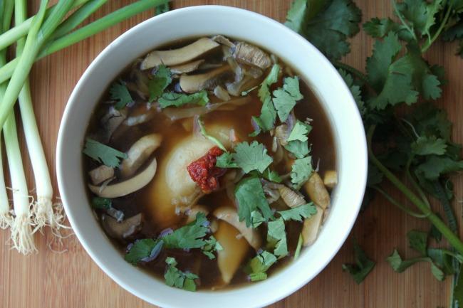 Pot Sticker Soup step four add spice