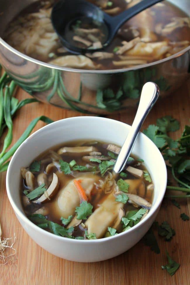 Pot Sticker Soup bowl and pot