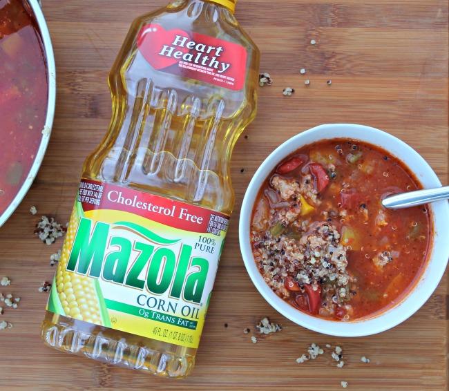 quinoa soup with mazola oil