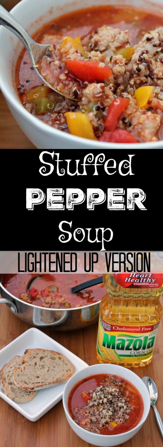 Stuffed Pepper Soup Lightened Up