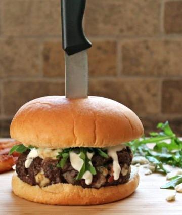 Blue Cheese Bacon Burger Knife