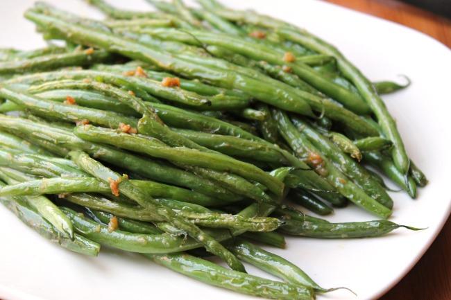 green bean recipe serving platter
