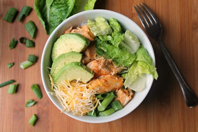 Instant Pot Buffalo Chicken Rice Bowl served