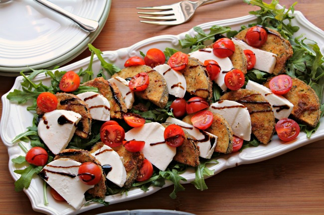 Eggplant Caprese Salad Platter