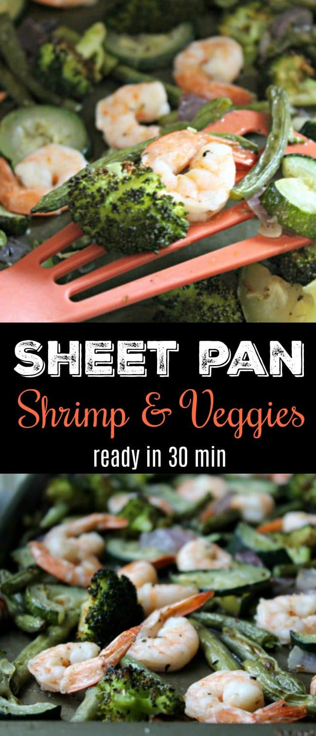 Sheet Pan Shrimp and Veggies Dinner ready in 30 minutes