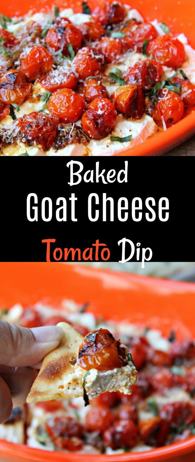 Baked Goat Cheese Tomato Dip