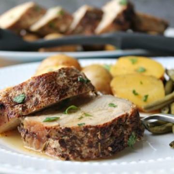smithfield pork loin dinner slow cooker sliced