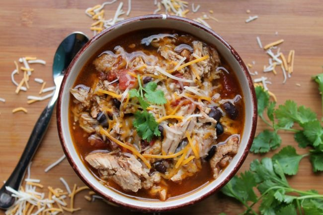 slow cooker pork chili with cheese