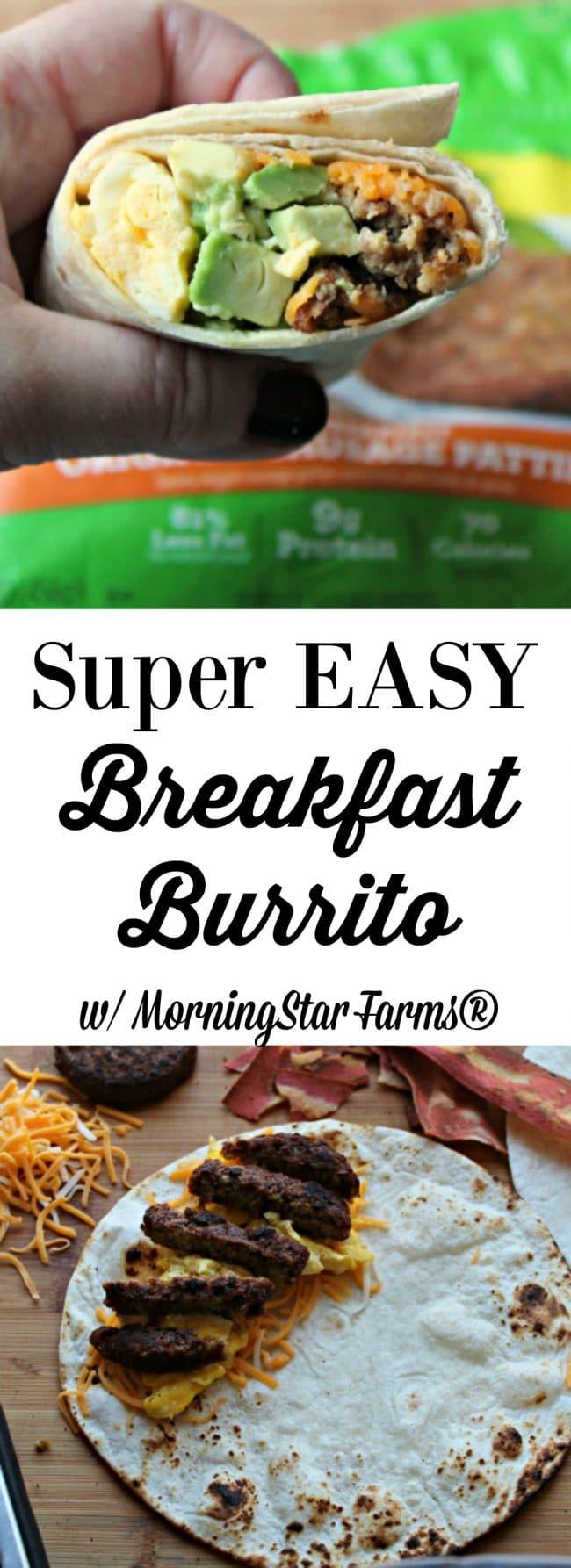 super easy breakfast burrito with MorningStar Farms®
