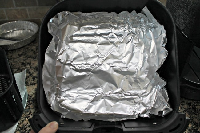 air fryer bacon foil bottom pan
