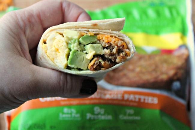 breakfast burrito close up