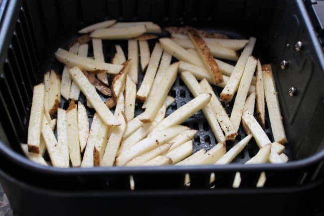 air fryer fries in basket