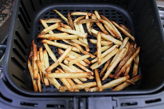 air fryer fries cooked in basket