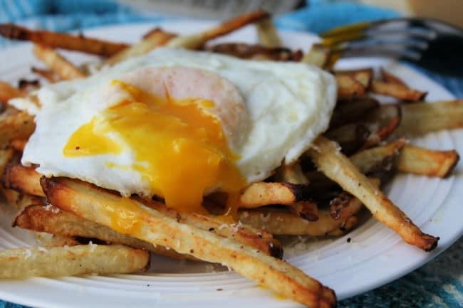 air fryer fries runny egg