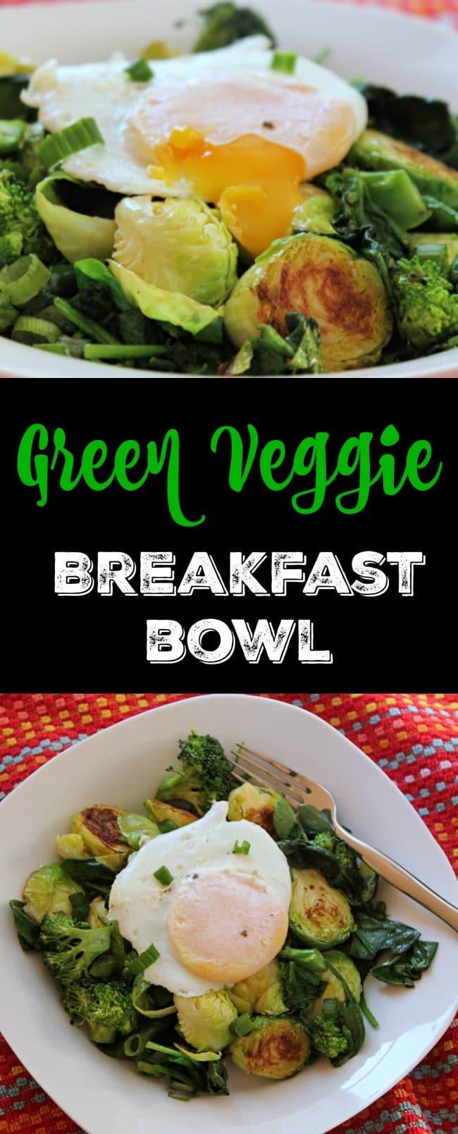 Green Veggie Breakfast Bowl