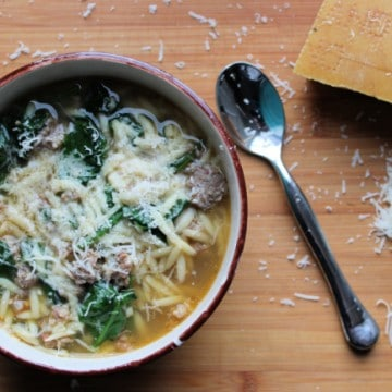 Instant Pot Sausage Soup with cheese
