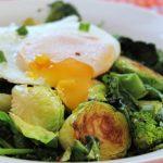 veggie breakfast bowl runny egg