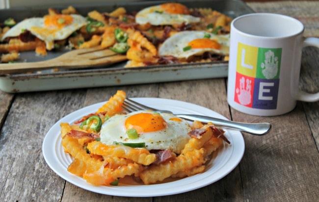 breakfast fries set with mug
