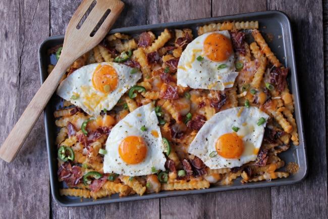 loaded breakfast fries styled