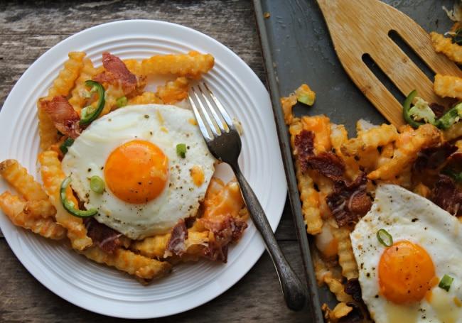 breakfast fries top shot