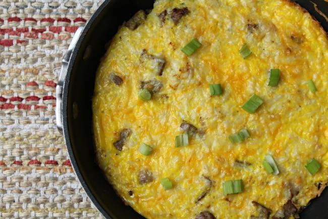 breakfast bake cooked