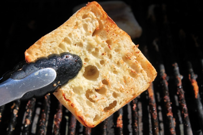 grilled bread for sandwich