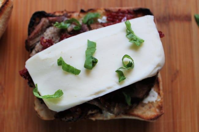 mozzarella pork sandwich