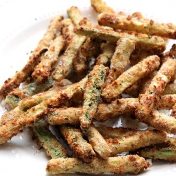 zucchini fries plated