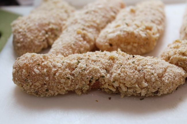 chicken tenders breaded
