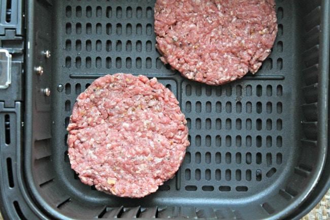 benedict burger in air fryer