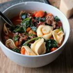 Instant Pot Sausage Tortellini Soup in Bowl