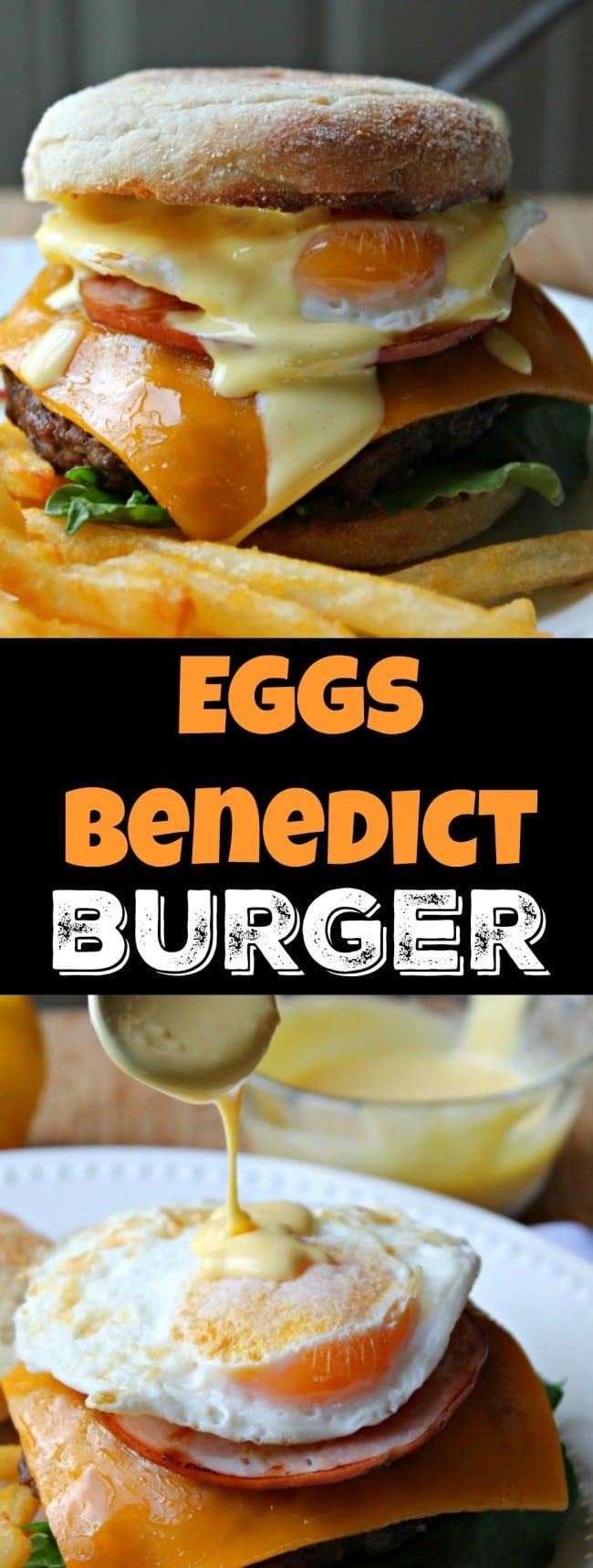 eggs benedict burger pin