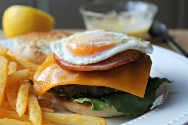 layered burger