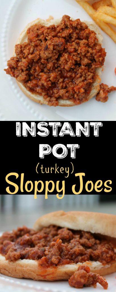 Instant Pot Turkey Sloppy Joes