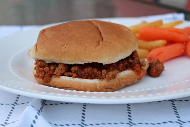 sloppy joes put together on plate