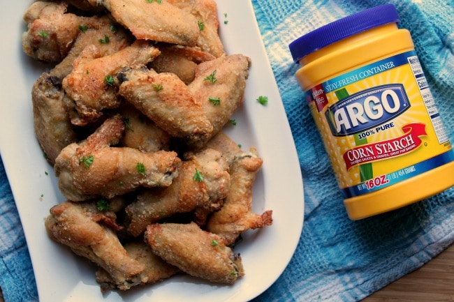 chicken wings with corn starch package