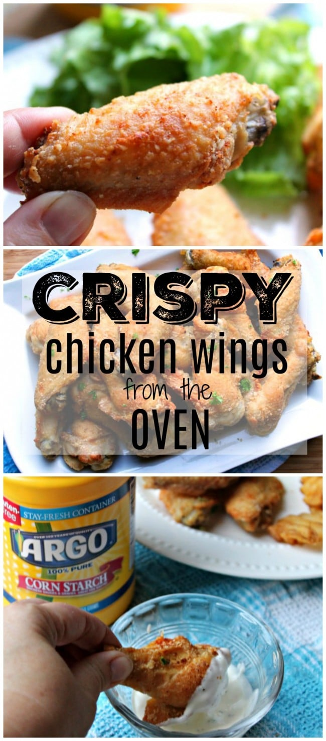 crispy chicken wings pin image