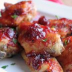 glazed cranberry chicken wings