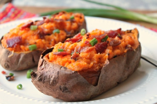 Twice Baked Sweet Potatoes Air Fryer Oven Foody Schmoody Blog