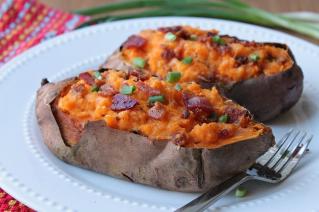 sweet potatoes served