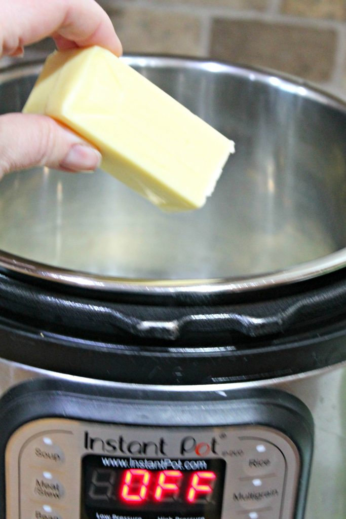 adding butter to instant pot