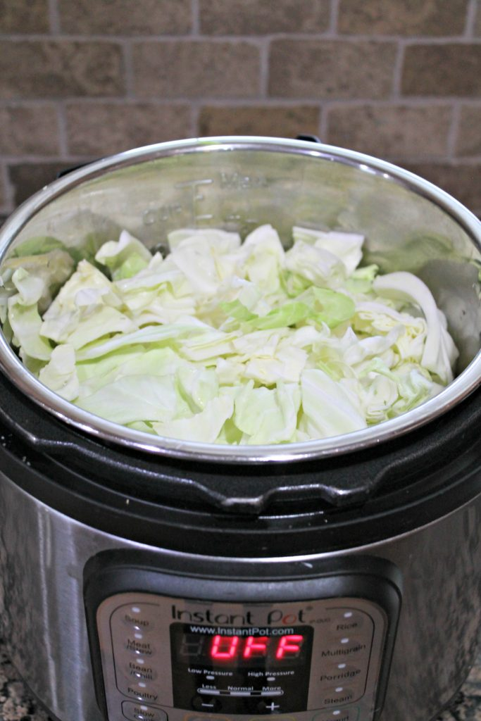 raw cabbage to be cooked in instant pot