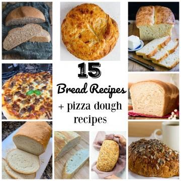 bread recipe collage