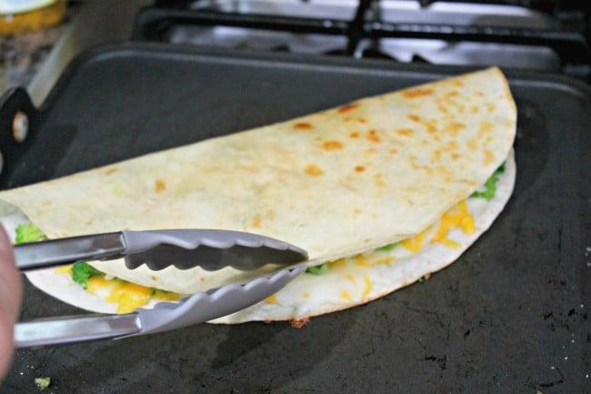 quesadilla assembled