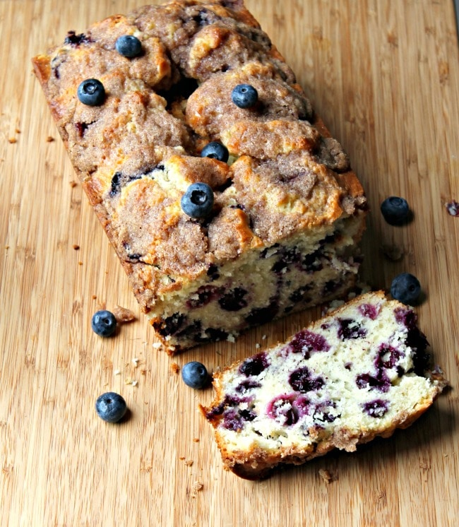 blueberry bread sliced