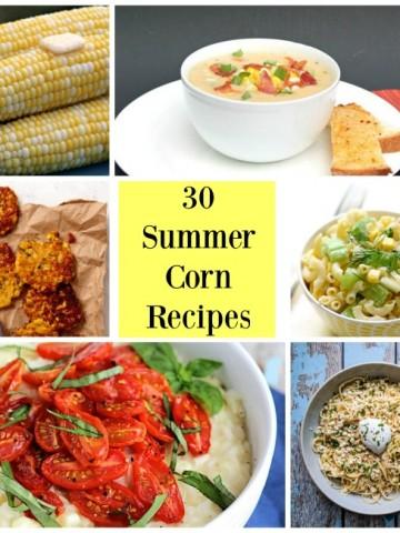 corn recipe collage